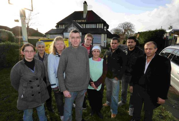 OPPOSITION: Graham Northeast and other Fairmile Road traders who are raising an objection to changing the disused pub