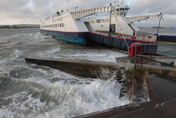 The Sandbanks Ferry was suspended this morning