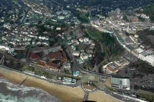 AT THE CENTRE: Bournemouth from the air
