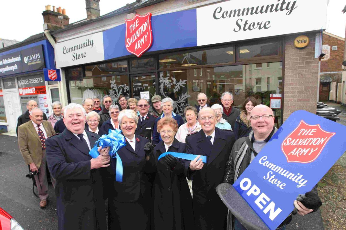 SALVATION: The new community store in Boscombe which will help the most needy in the area