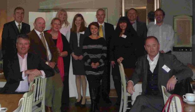 LAUNCH: The founding members of Wimborne Square Networking