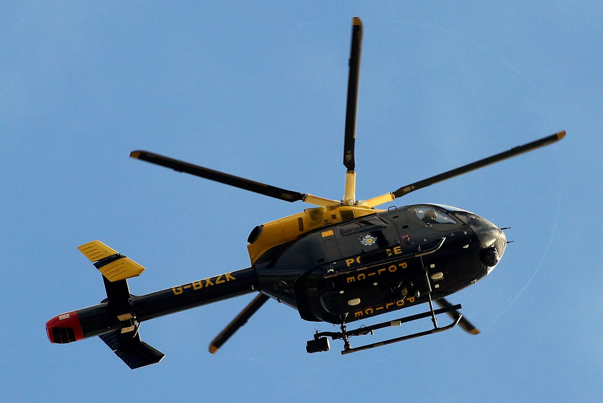 Police helicopter joins search for suspected burglar in Alum Chine