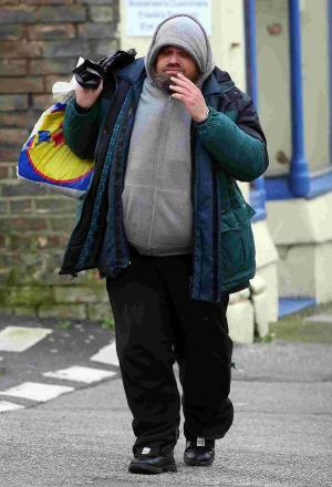 HOMELESS: Martin Darrell Smith arrives at Bournemouth Magistrates' Court