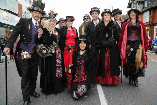 Bournemouth Echo: LOOKING GOOD: The parade moves through the town