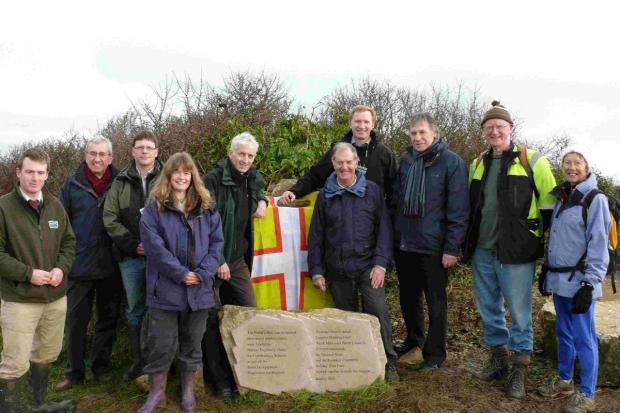 STEPPING OUT: Guests and dignitaries at the official reopening of the Priest's Way path