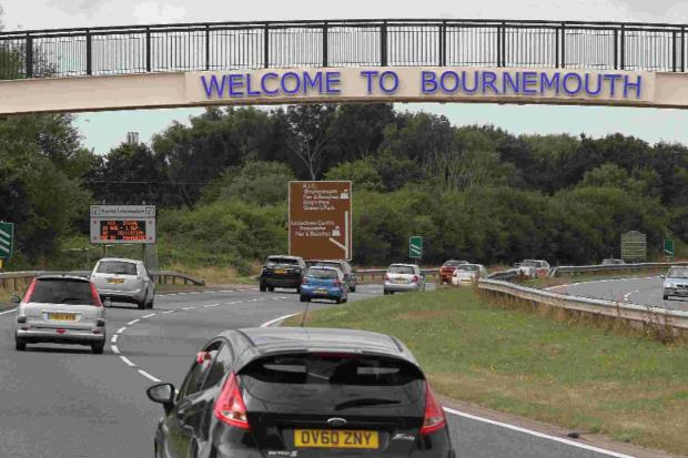 "Routine inspection of ""Welcome to Bournemouth"" sign reveals no problems"