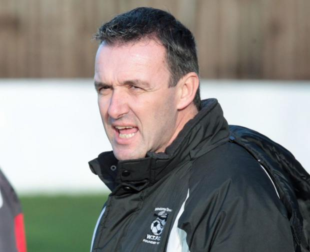 YOUTHFUL OUTLOOK: Wimborne Town boss Steve Cuss