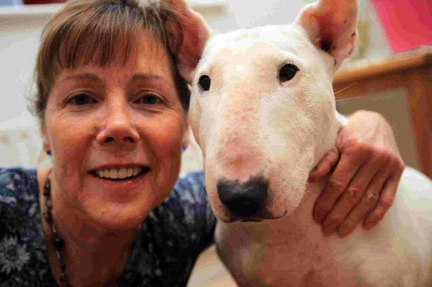 STAR QUALITY: Affectionate Poppy with owner Tessa Buckley
