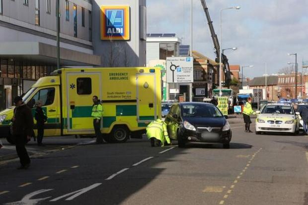Elderly woman remains critical after crash with car outside Aldi