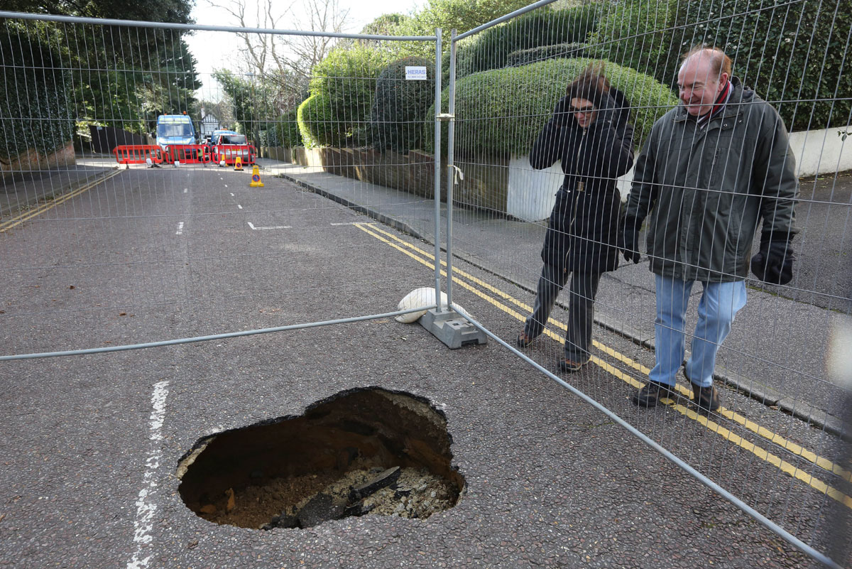 Update: Sewer collapses and rips open heart-shaped hole in Sandbanks