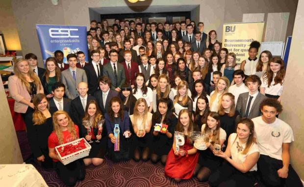 TOP TEAM: Students involved in the Enterprise Challenge gather for their awards ceremony