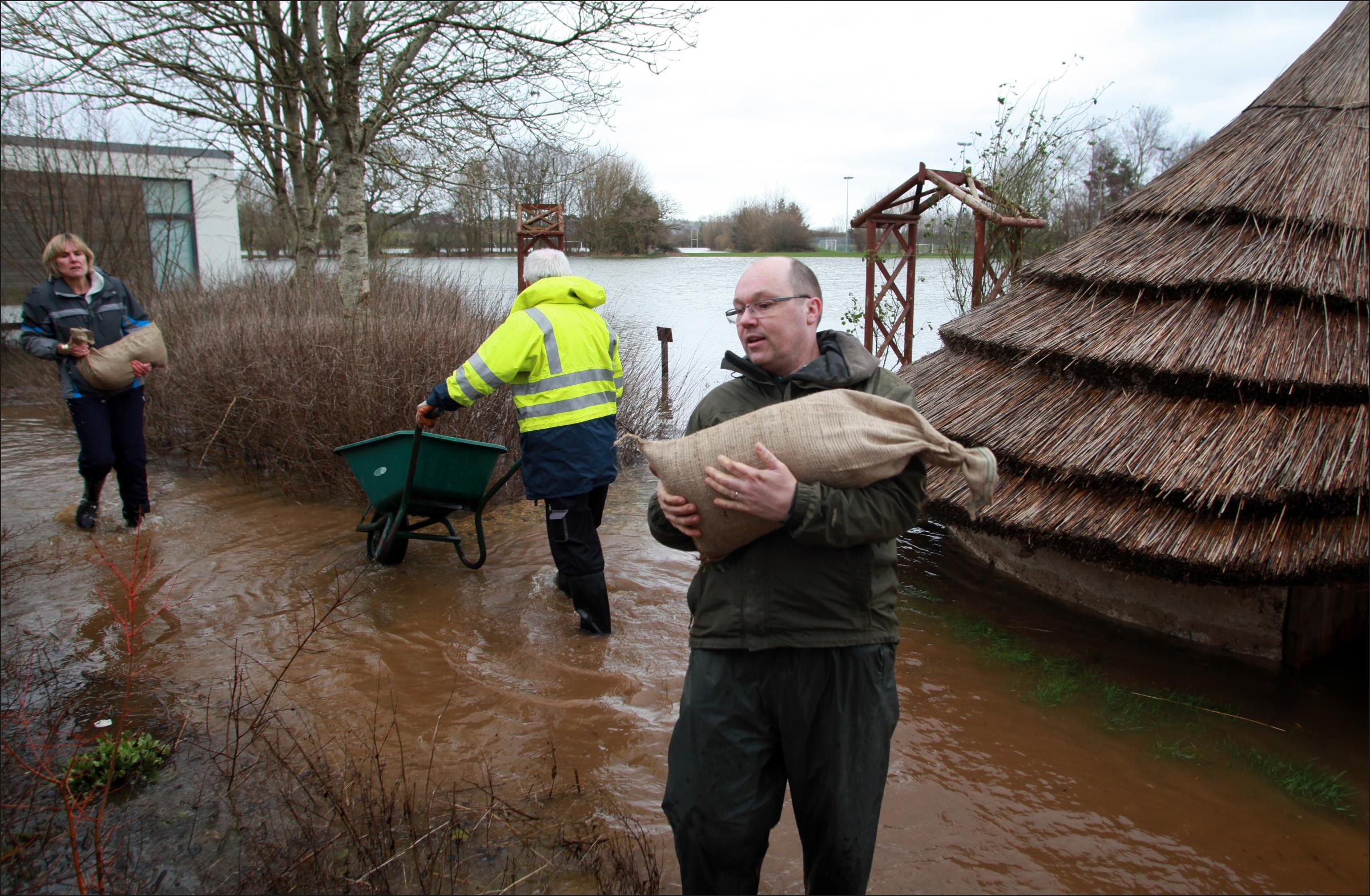 All hands to the pump at flooded Fordingbridge schools
