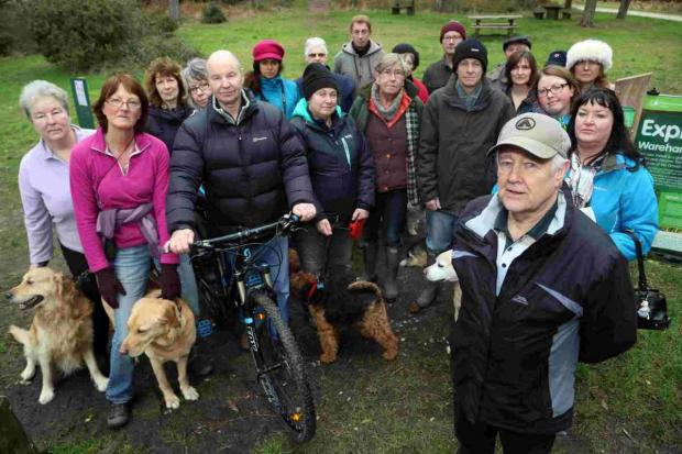 CONCERNS: Alan Jailler with local residents at Lawson Clump
