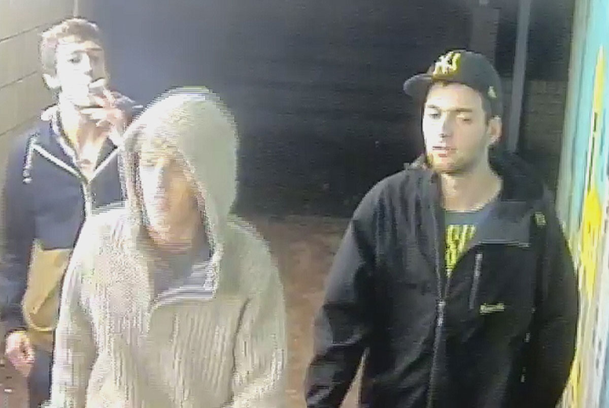 CCTV: Five men sought after £20k worth of damage caused to pedestrian crossings