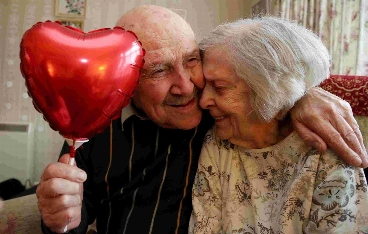 TRUE LOVE: Eric and Doris Steele who will celebrate their 70th wedding anniversary on Valentine's Day .