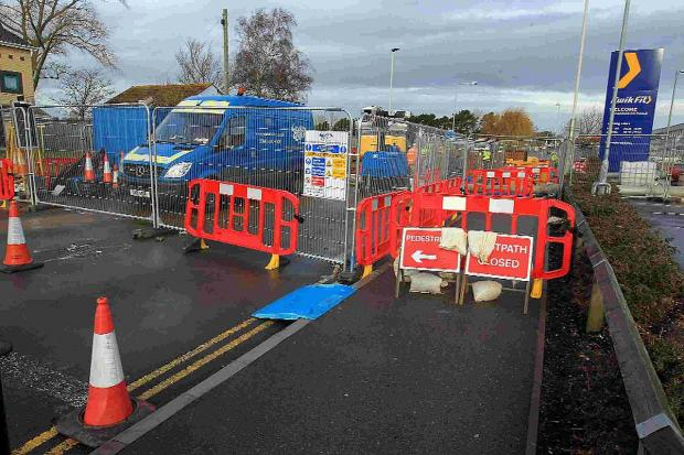 BURST: A 40 metre section of Blandford Road in Hamworthy is still closed between Turlin Moor and Allens Lane as Wessex Water are carrying out major repairs to a burst sewer