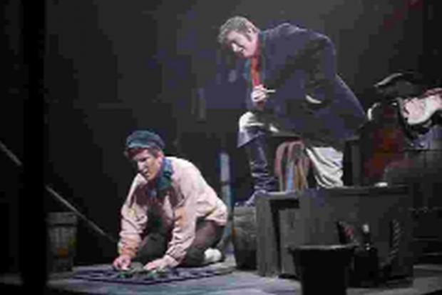 David Walsh (standing) with Ieuan Jeffcott in a production of Female Transport by Steve Gooch last autumn