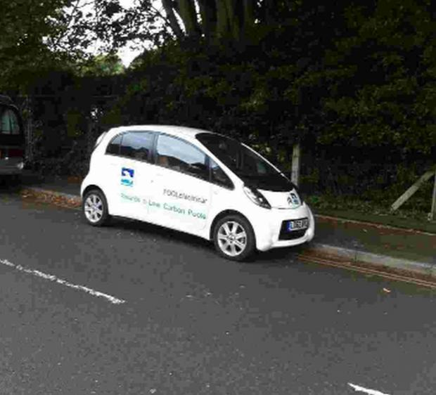 Bournemouth Echo: A Borough of Poole car parked on double yellow lines