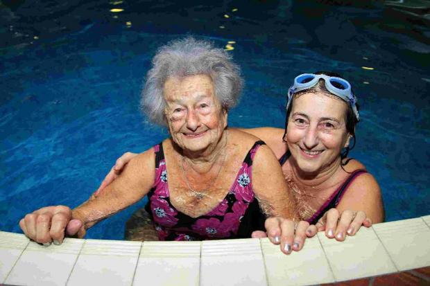 100 YEARS YOUNG: Greta Koumides with her daughter Christine Carrington