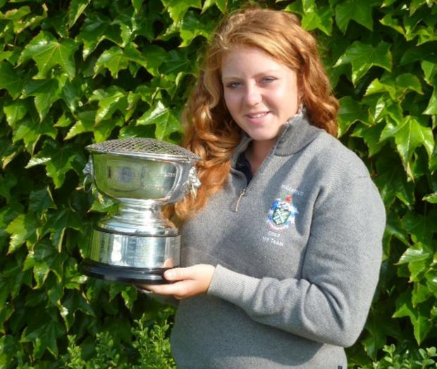 AWARD WINNER: Sophie Keech with girls championship trophy