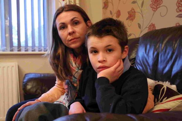 Sue Read and son Connor