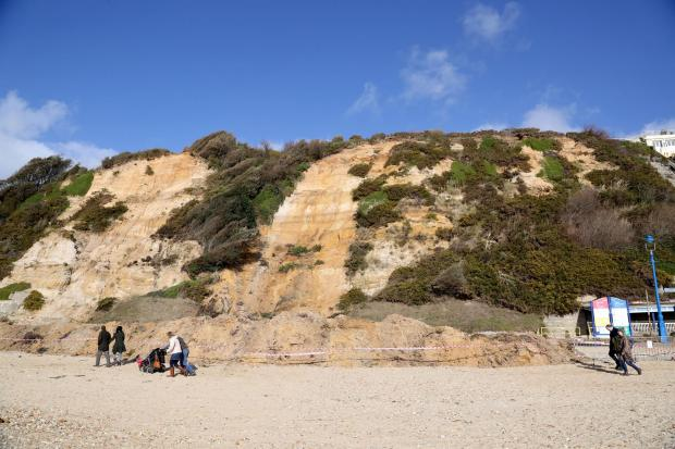 Bournemouth Echo: The cordon will remain in place while the cliff is monitored
