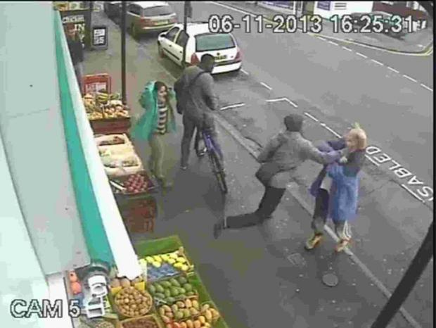 Bournemouth Echo: COMPLAINTS: CCTV image of Lewis Gill punching Andrew Young