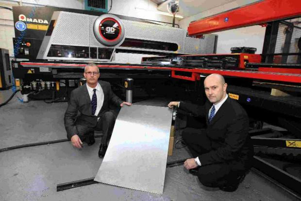 BUSINESS BOOST: Brothers and directors of RJW Sheet Metal Ltd, Andy and Chris Weight