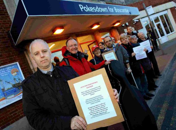 Campaigners at Pokesdown station