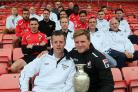 PROUD: Railway boss Ian Colmer, pictured with Eddie Howe on Friday