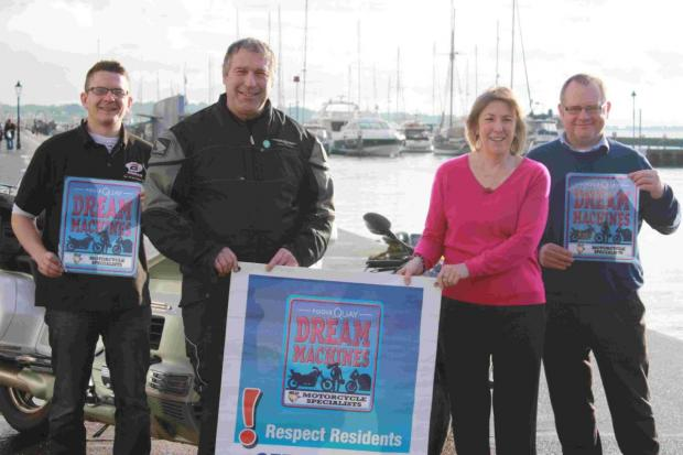 THE TEAM: BLD marketing executive Alan Dunkerly, chief marshal Kerry Pope, Poole Tourism special events manager Anne Simpson and BLD operations director Stuart Dobson