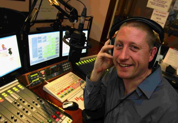 ON AIR: Hospital radio presenter Paul Sutton pictured in 2009  and, inset below, one of the plaques