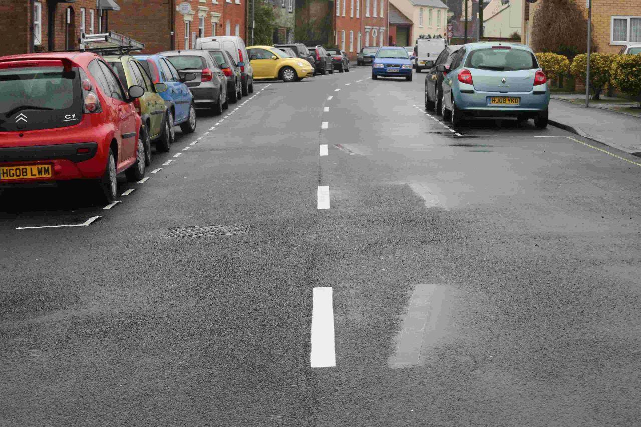 Wonky Wimborne lines repainted just a day after council says they were supposed to be there