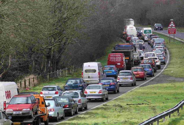 Major delays on A35 Christchurch bypass due to work to install new digital signs