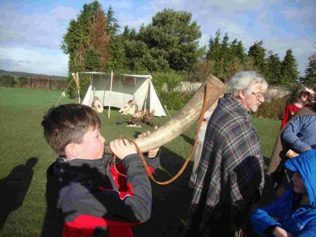 OUTDOOR FUN: Youngsters try Saxon life