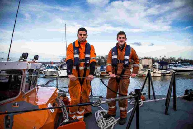 FUTURE: RNLI apprentices working at the Lifeboat Maintenance Centre at Cobbs Quay