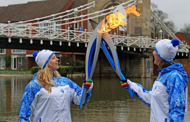 Bournemouth Echo: Paralympic Torch comes to Marlow