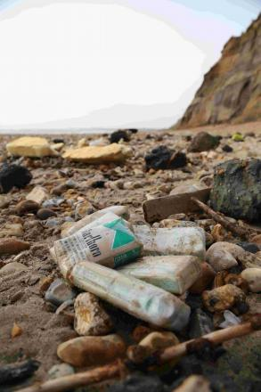 Walkers urged not to pick up cigarette packets washed up at Hengistbury Head