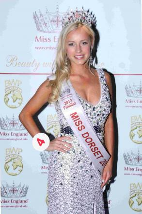 GIRL POWER: Emily Kishere, who won Miss Dorset 2013
