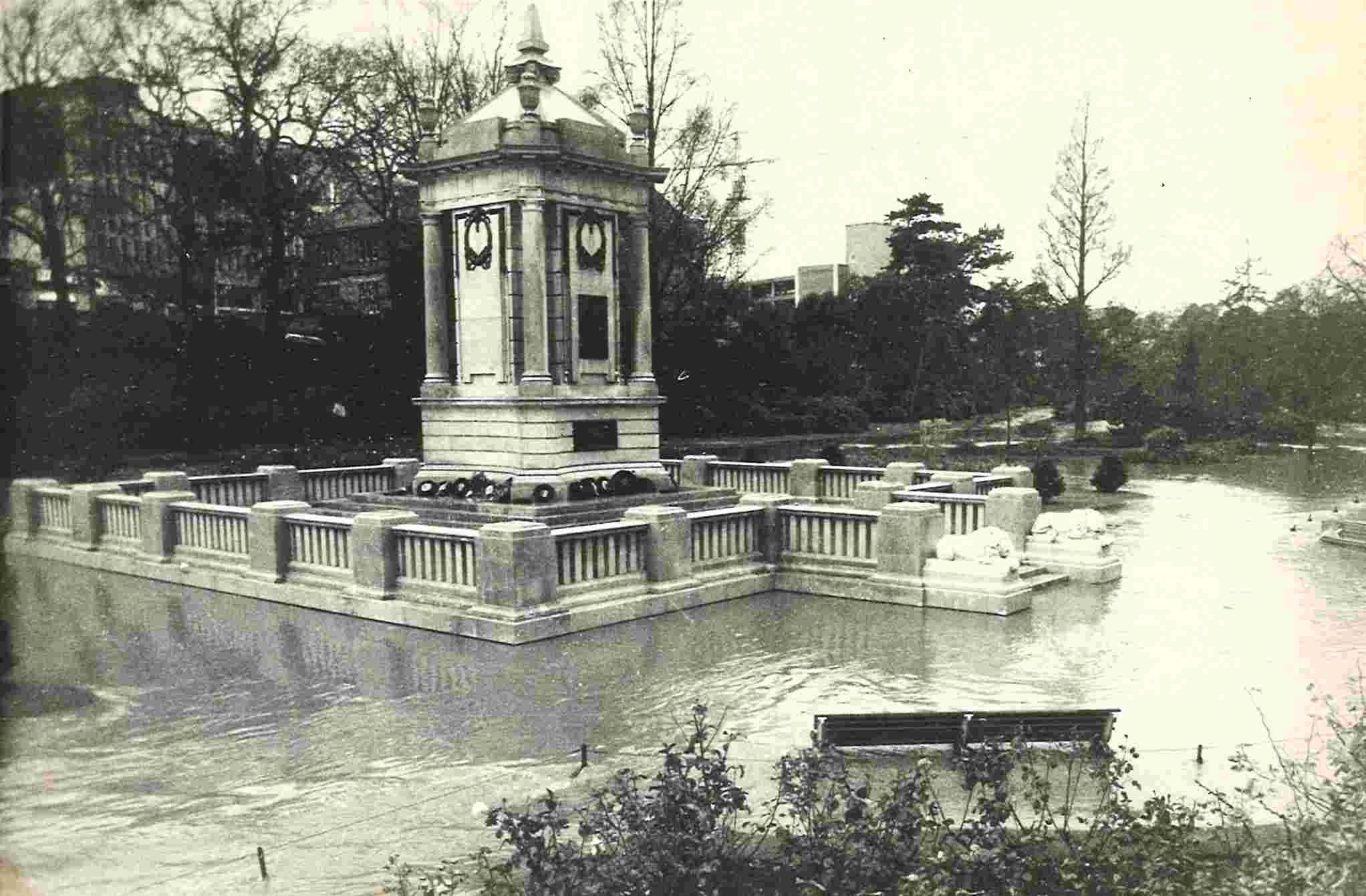 Bournemouth Gardens were flooded in gales of 1972