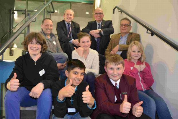 ON THE UP: Two teams from The Bishop of Winchester Academy are being mentored as part of the Shore Ideas business competition to raise money for charity