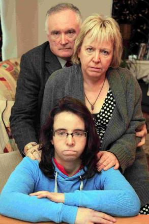 OUTRAGED: Tom, Bridget and Clare McCabe