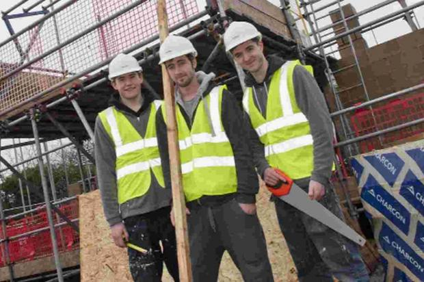 Bournemouth Echo: APPRENTICES: Stepnell employees joiner Alex Smith, site carpenter Scott Lyons and joiner Adam Green