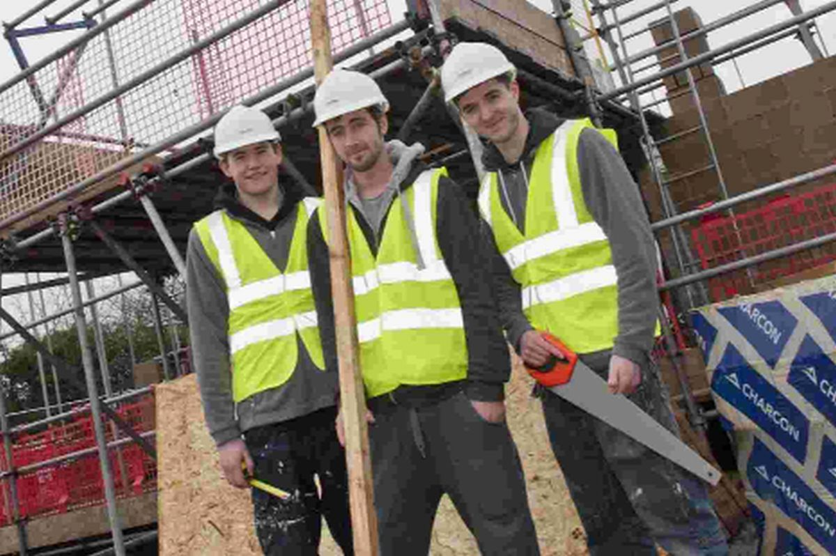 APPRENTICES: Stepnell employees joiner Alex Smith, site carpenter Scott Lyons and joiner Adam
