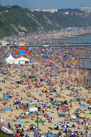 Thousands of sun worshippers lined Bournemouth's beaches last summer