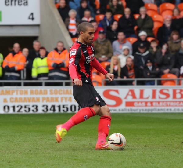 SPOT ON: AFC Bournemouth's Lewis Grabban