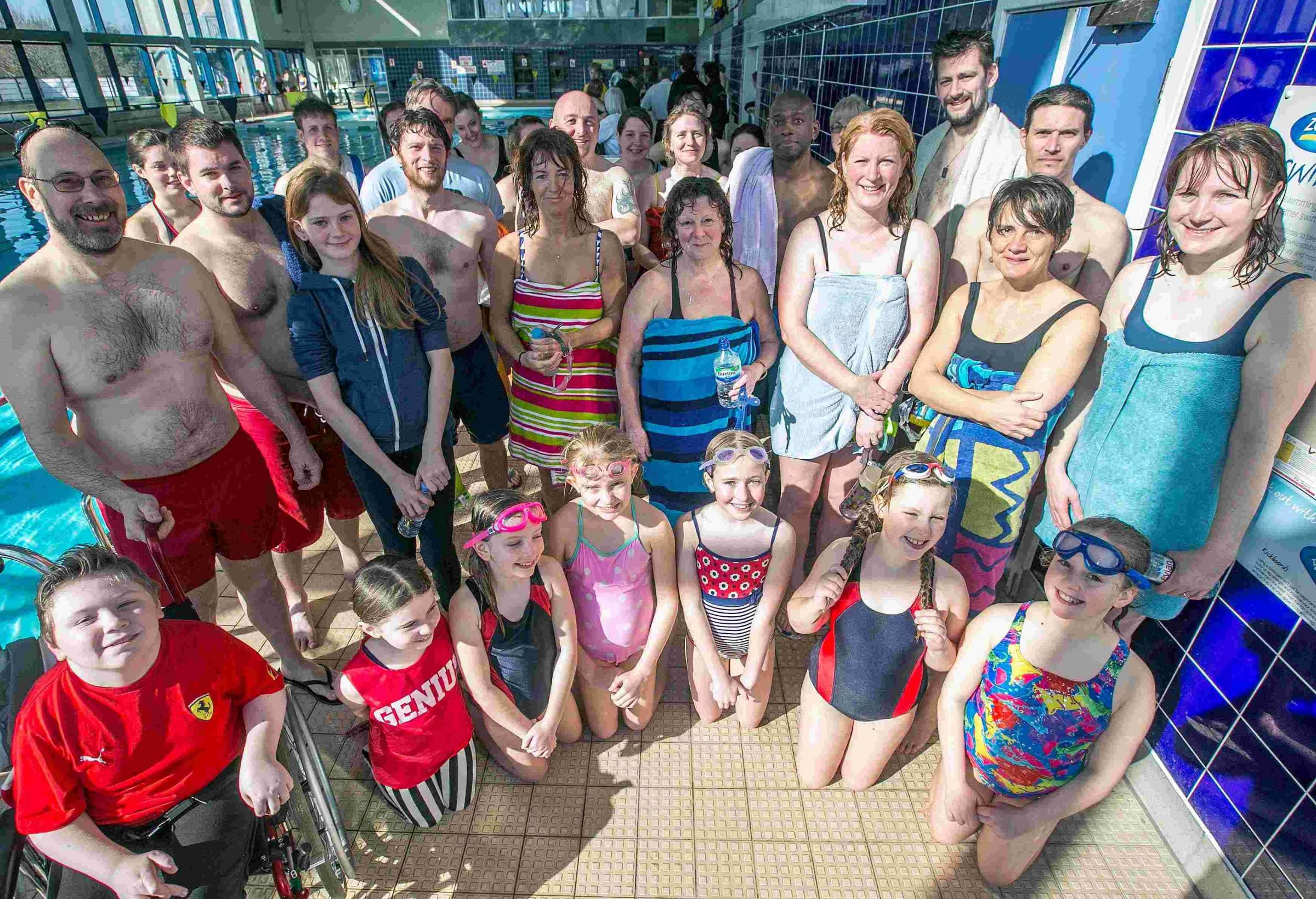 Swimarathon success, Poole