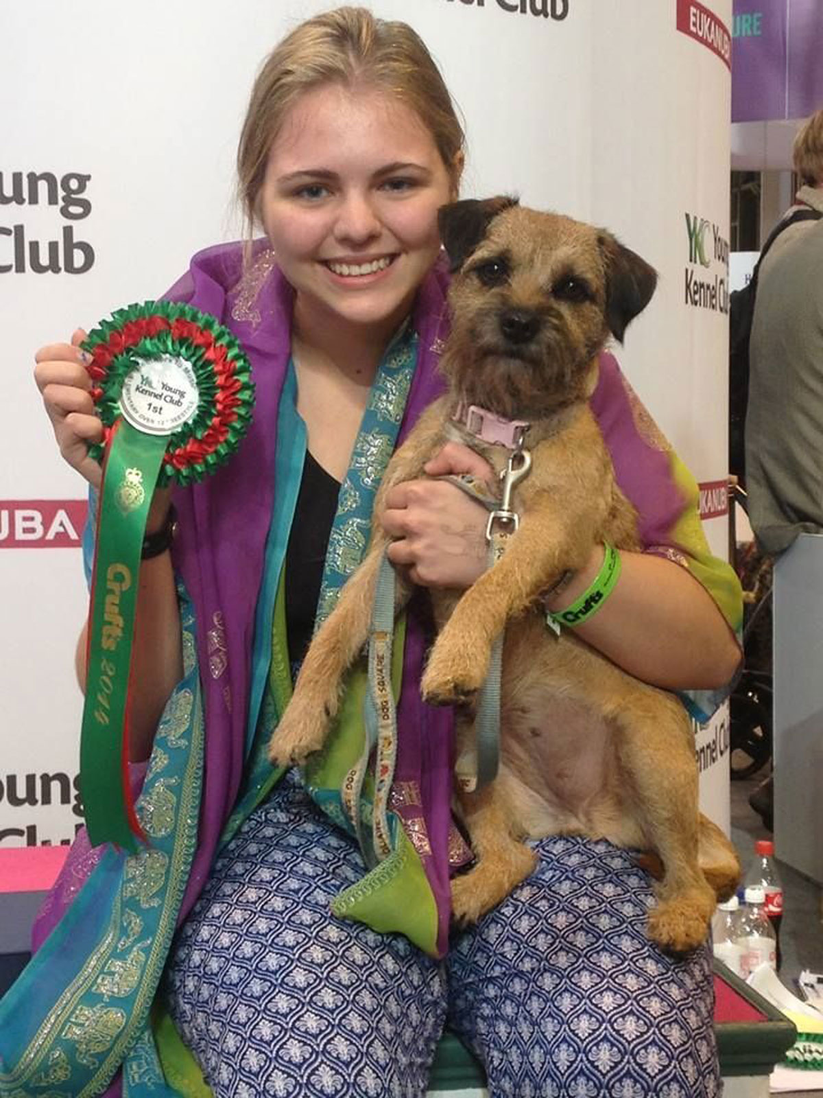 Jodie with border terrier Bramble
