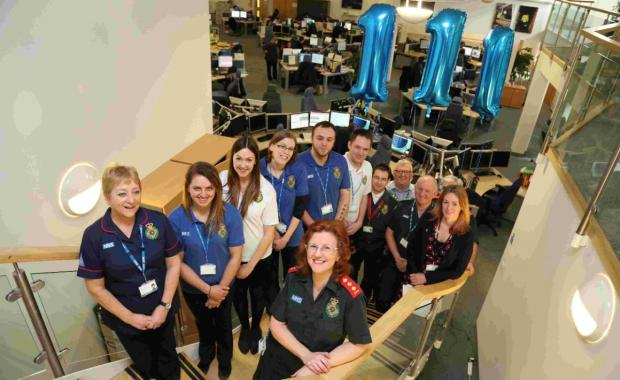 SUCCESS: Staff at the headquarters celebrate the one-year anniversary
