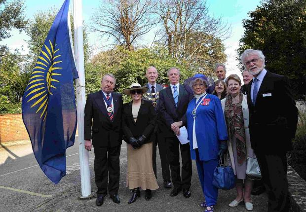 FLYING HIGH: Commonwealth Flag raising ceremony at Purbeck District Council offices in Wareham